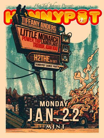 TIFFANY ANDERS (MUSIC SUPERVISOR INTERVIEW/DJ SET) + LITTLE MONARCH + POWER TRIP + TRUBDR. ADAM ROAD + LAUREN LAKIS + h2the (DJ SET)