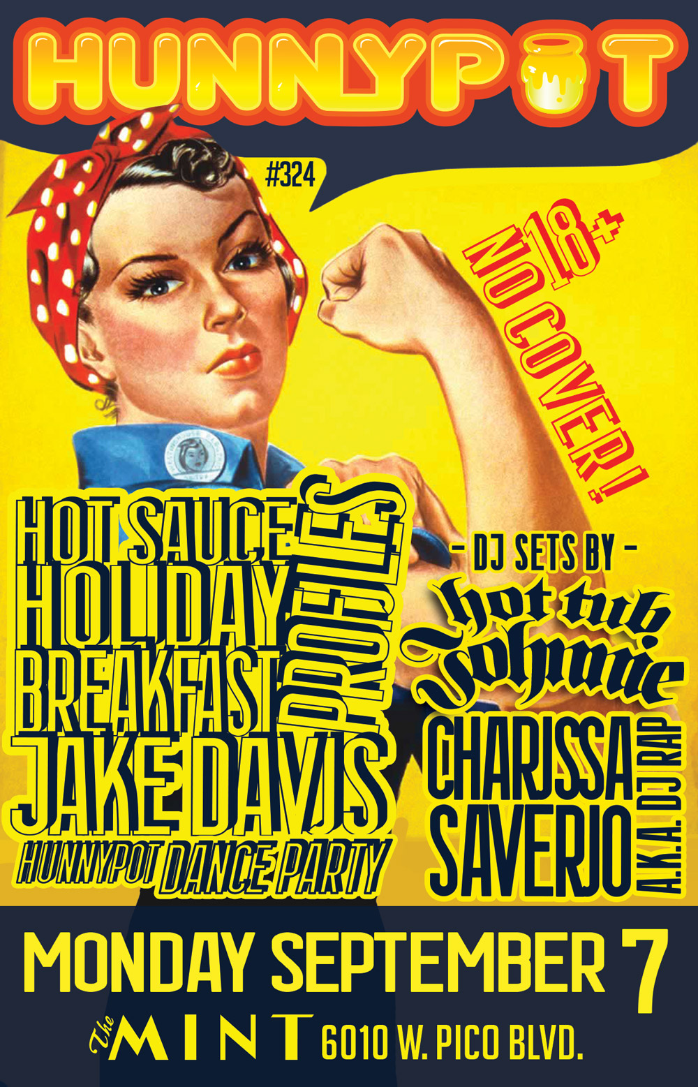 LABOR DAY PARTY w. CHARISSA SAVERIO a.k.a. DJ RAP (INTERVIEW/DJ SET) + HOT SAUCE HOLIDAY + BREAKFAST + PR0FILES + JAKE DAVIS