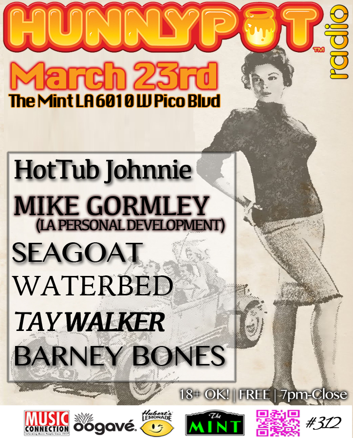 MIKE GORMLEY (LA PERSONAL DEVELOPMENT, DJ SET) + SEAGOAT + WATERBED + TAY WALKER
