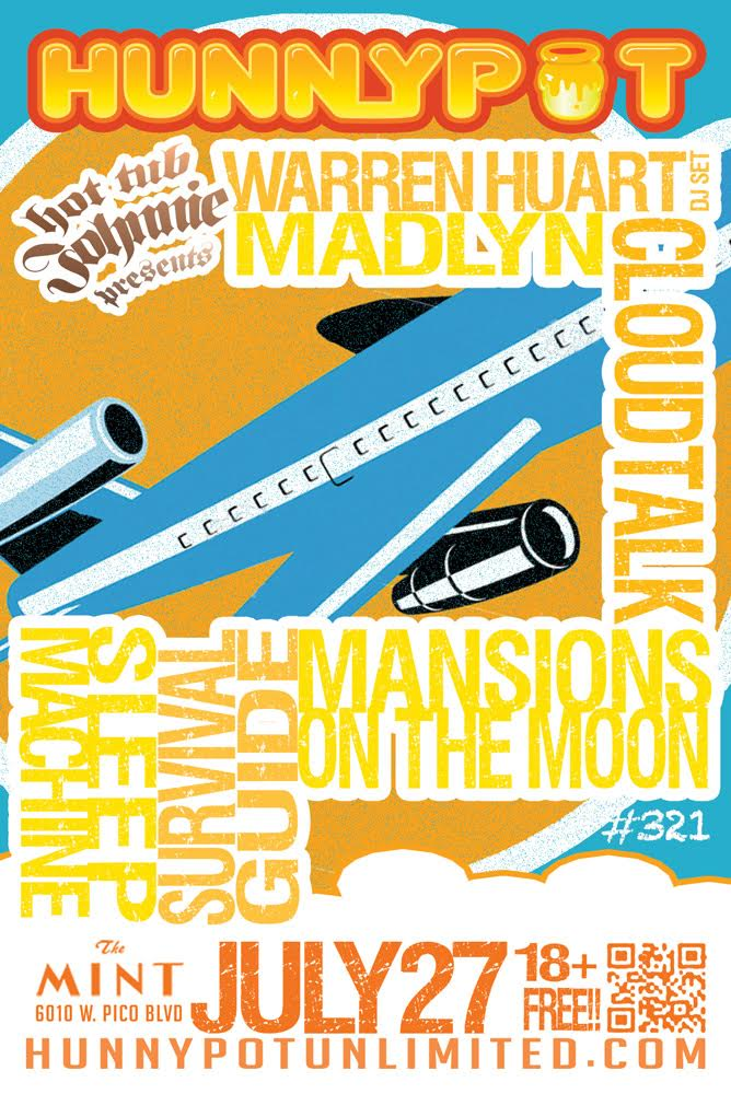 WARREN HUART (DJ SET) + MADLYN + CLOUDTALK + MANSIONS ON THE MOON + SLEEP MACHINE + SURVIVAL GUIDE + HEADKNOD