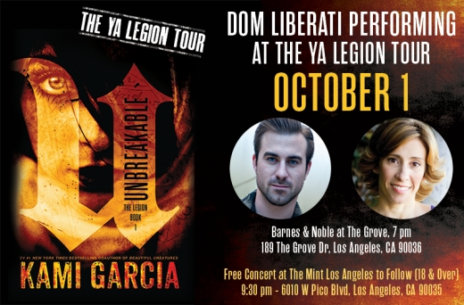 Hunnypot Unlimited welcomes Dom Liberati in celebration of Kami Garcia's new book UNBREAKABLE