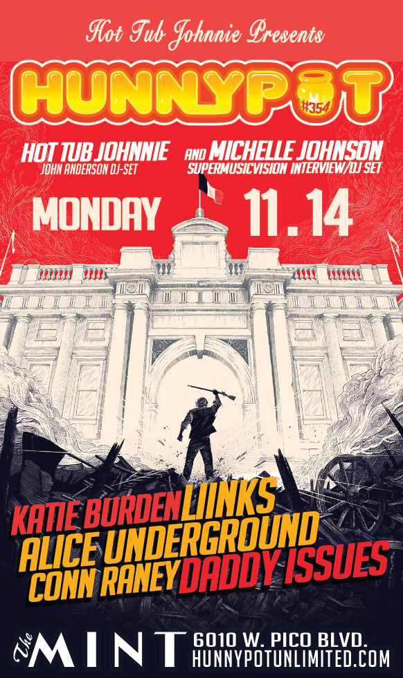 MICHELLE JOHNSON (SuperMusicVision DJ SET) + KATIE BURDEN + ALICE UNDERGROUND + LiiNKS + DADDY ISSUES + CONN RANEY