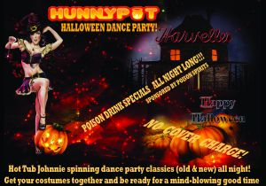Hunnypot Does Harvelles - Halloween Dance Party, Friday 10/27!