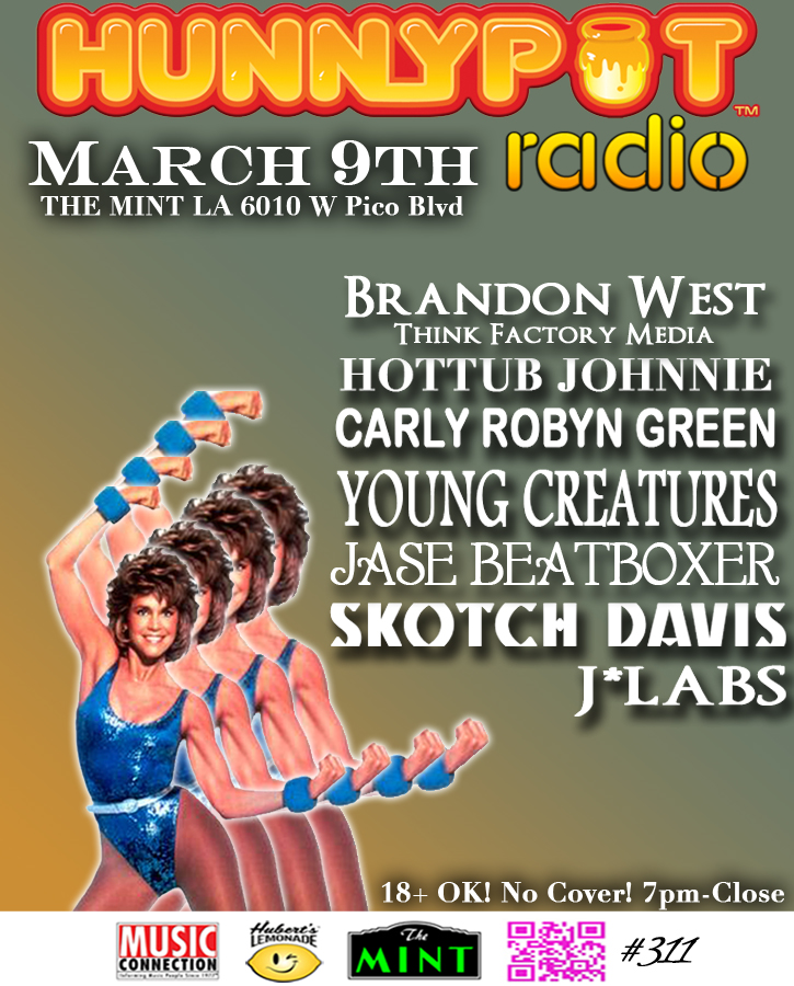 BRANDON WEST (THINK FACTORY MEDIA, DJ SET) + CARLY ROBYN GREEN + YOUNG CREATURES + JASE BEATBOXER + SKOTCH DAVIS + J*LABS