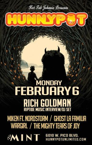 RICH GOLDMAN (RIPTIDE MUSIC INTERVIEW/DJ SET) + MIKEN & NORDSTORM + GHOST LA FAMILIA + WARGIRL + THE MIGHTY TEARS OF JOY