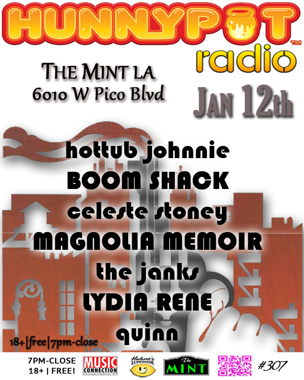 HOT TUB JOHNNIE (DJ SET) + CELESTE STONEY + MAGNOLIA MEMOIR + THE JANKS + LYDIA RENE + QUINN