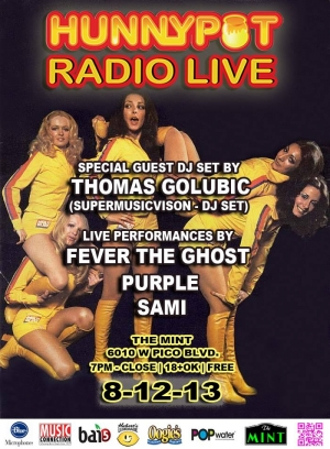 THOMAS GOLUBIC (SUPERMUSICVISION DJ SET) + FEVER THE GHOST + PURPLE + SAMI 8-12-13