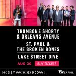 Trombone Shorty & Orleans Avenue at The Hollywood Bowl 8/30!