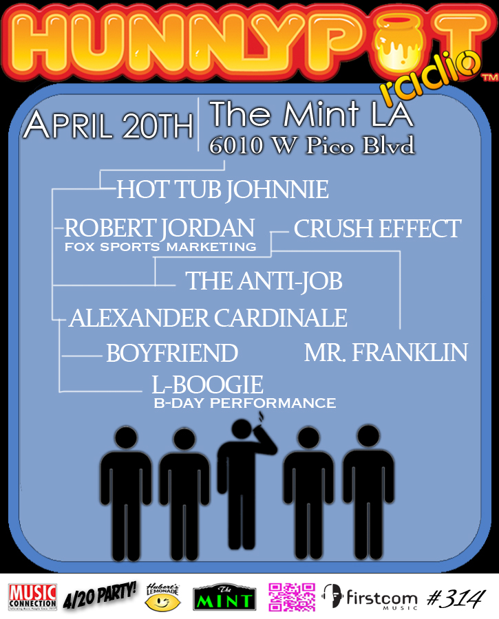 ROBERT JORDAN (FOX SPORTS MARKETING, DJ SET) + THE ANTI-JOB + ALEXANDER CARDINALE + BOYFRIEND + CRUSH EFFECT + L-BOOGIE (B-DAY PERFORMANCE)