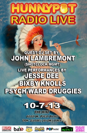 JOHN LAMBREMONT (SHOTCLOCK MGMT DJ SET) + PERFORMANCES BY JESSE DEE + THE BIXBY KNOLLS + PSYCH WARD DRUGGIES