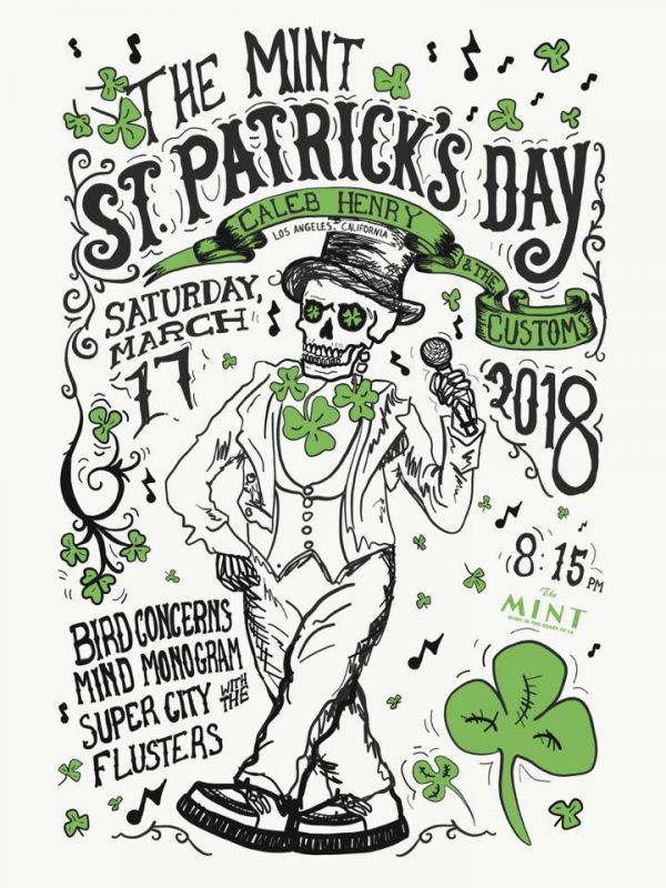 St. Partick's Day Party w. Hot Tub Johnnie (DJ Set) at The Mint feat. Caleb Henry & The Customs / Bird Concerns / Mind Monogram / Super City / The Flusters