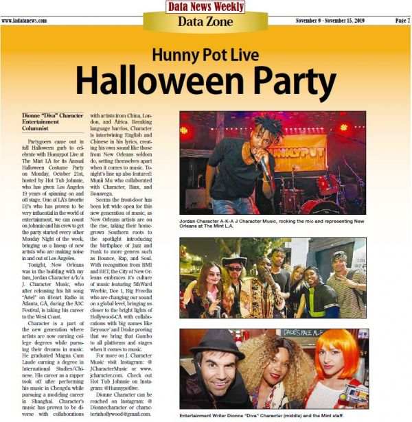 DATA News Weekly - Hunnypot Live Halloween Party (10-28-19)