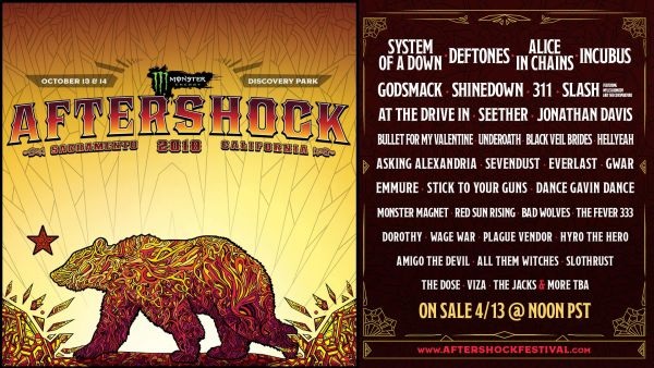 FESTIVAL ANNOUNCEMENT AND PREVIEW:  MONSTER ENERGY'S AFTERSHOCK