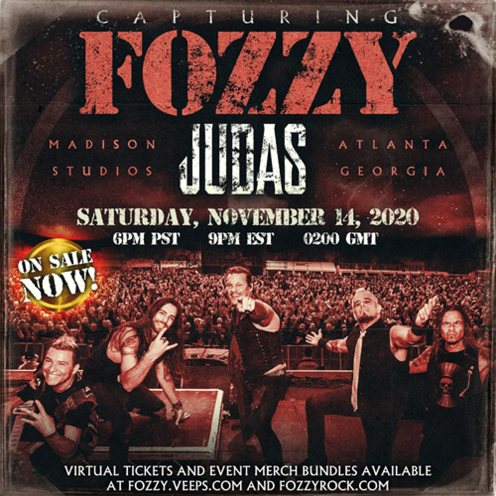 "LIVESTREAM PREVIEW:  FOZZY - ""CAPTURING JUDAS"""