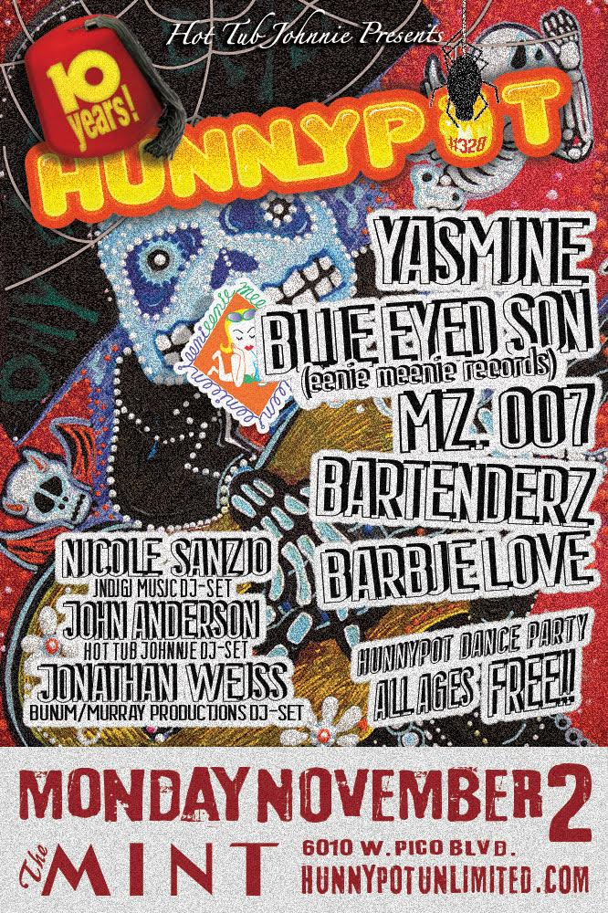 10 YEARS OF HPR! w. JONATHAN WEISS (BUNIM/MURRAY PRODUCTIONS DJ SET) + NICOLE SANZIO (INDIGI MUSIC, DJ SET) + YASMINE + BLUE EYED SON + MZ. 007 + BARTENDERZ + BARBIE LOVE