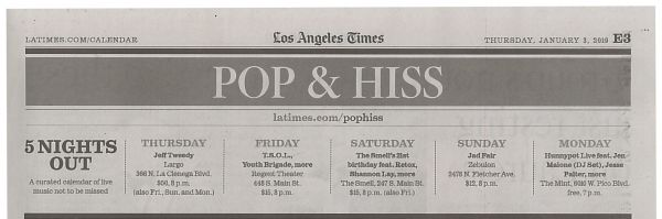 Hunnypot in the LA times
